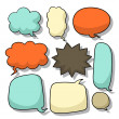Stock Vector: Abstract speech bubble design