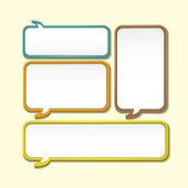 Abstract speech bubble design — Stock Vector