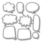 Abstract speech bubble design — Vecteur