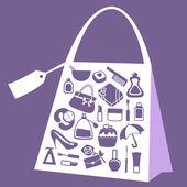 Set di icone di donne accessori — Vettoriale Stock