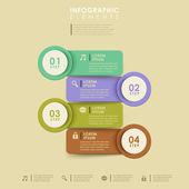 Resumen banner infografía — Vector de stock