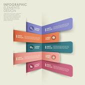 Infografica banner origami astratti — Vettoriale Stock