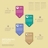 Abstract option infographics — Stockvektor