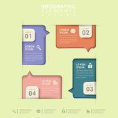 Opzione astratta infografica — Vettoriale Stock