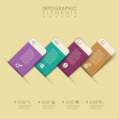 Abstrakt banner infographics — Stockvektor