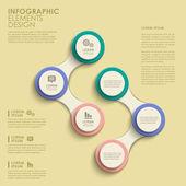 Astratto cerchio opzione infografica — Vettoriale Stock