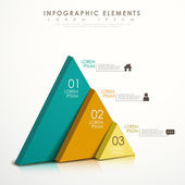 Abstract triangle infographics — Stock Vector