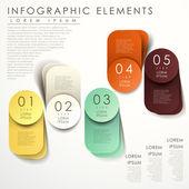 Origami astratti infografica — Vettoriale Stock