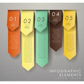 Abstrakt origami infographics — Stockvektor