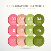 Abstract option infographics — Stok Vektör