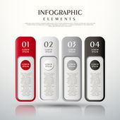 Banner abstrato infográficos — Vetor de Stock