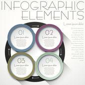Abstrakt cirkel infographics — Stockvektor