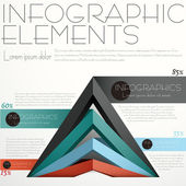 Abstract pyramid infographics — Wektor stockowy