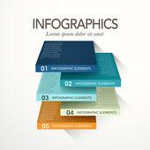 Cubo astratto infografica — Vettoriale Stock