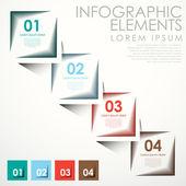 Astratto banner infografica — Vettoriale Stock