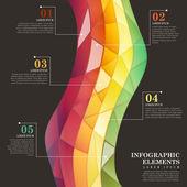 абстрактная красочная плитка инфографика — Cтоковый вектор