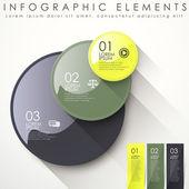 Astratto cerchio infografica — Vettoriale Stock