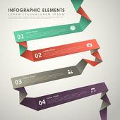 Astratto flusso grafico infografica — Vettoriale Stock