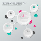 Abstract white circle infographics — Stok Vektör