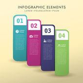 Abstract banner infographics — Stock Vector