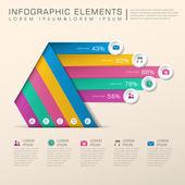 Infografica astratta bar chart — Vettoriale Stock