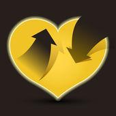 Entrare o uscire l'amore — Vettoriale Stock
