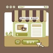 Flat design concept with icons of online shop ideas symbol and s — 图库矢量图片