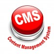 3d illustration of cms (content management system) button — Stok Vektör