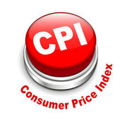 3d illustration of CPI ( Consumer Price Index ) button — Vecteur