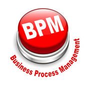 3d illustration of bpm business process management button — Stock Vector