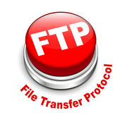 3d illustration of FTP ( File transfer Protocol ) button — Stock Vector