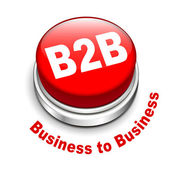 3d illustration of b2b ( business to business ) button — Stock Vector