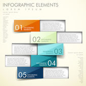 Soyut origami infographics — Stok Vektör