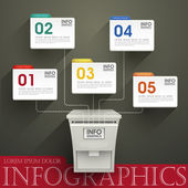Abstract option infographics — Vecteur