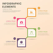 Abstract flow chart infographics — Stock Vector