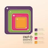 özet akış çizelgesi infographics — Stok Vektör