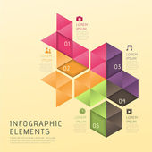 Abstract low poly style infographics — Stock Vector
