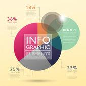 Soyut pasta grafiği infographics — Stok Vektör