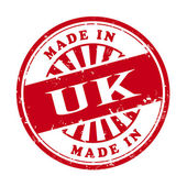 Made in UK grunge rubber stamp  — Stock Vector