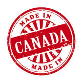 Made in Canada grunge rubber stamp  — Stock Vector