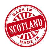 Made in Scotland grunge rubber stamp  — 图库矢量图片