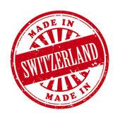 Made in Switzerland grunge rubber stamp — Stock Vector