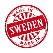 Made in Sweden grunge rubber stamp  — Stock Vector