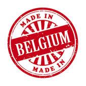 Made in Belgium grunge rubber stamp  — Vector de stock
