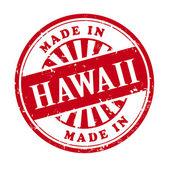 Made in Hawaii grunge rubber stamp  — 图库矢量图片
