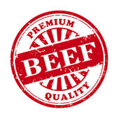 Beef grunge rubber stamp  — 图库矢量图片