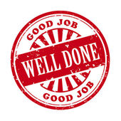 Well done grunge rubber stamp — Stock Vector