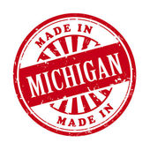 Made in Michigan grunge rubber stamp  — Stock Vector