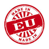 Made in EU grunge rubber stamp  — 图库矢量图片
