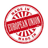 Made in European Union grunge rubber stamp — Stock Vector